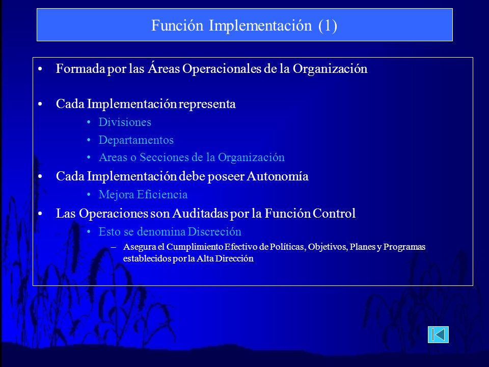 Función Implementación (1)
