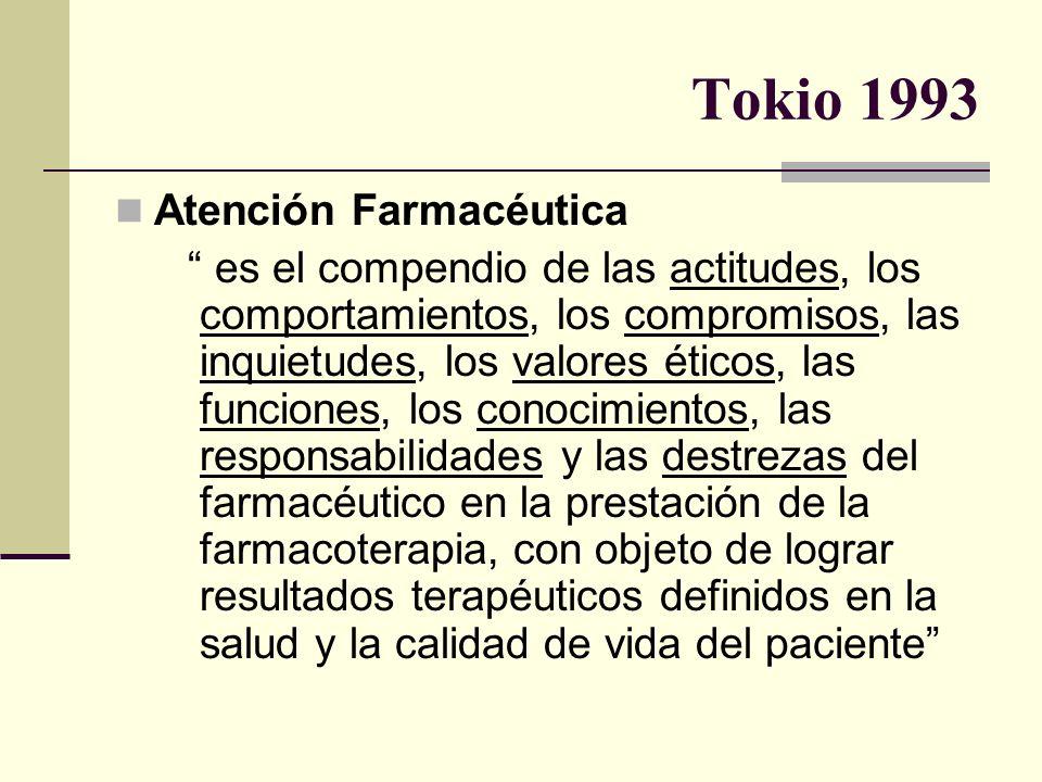 Tokio 1993 Atención Farmacéutica