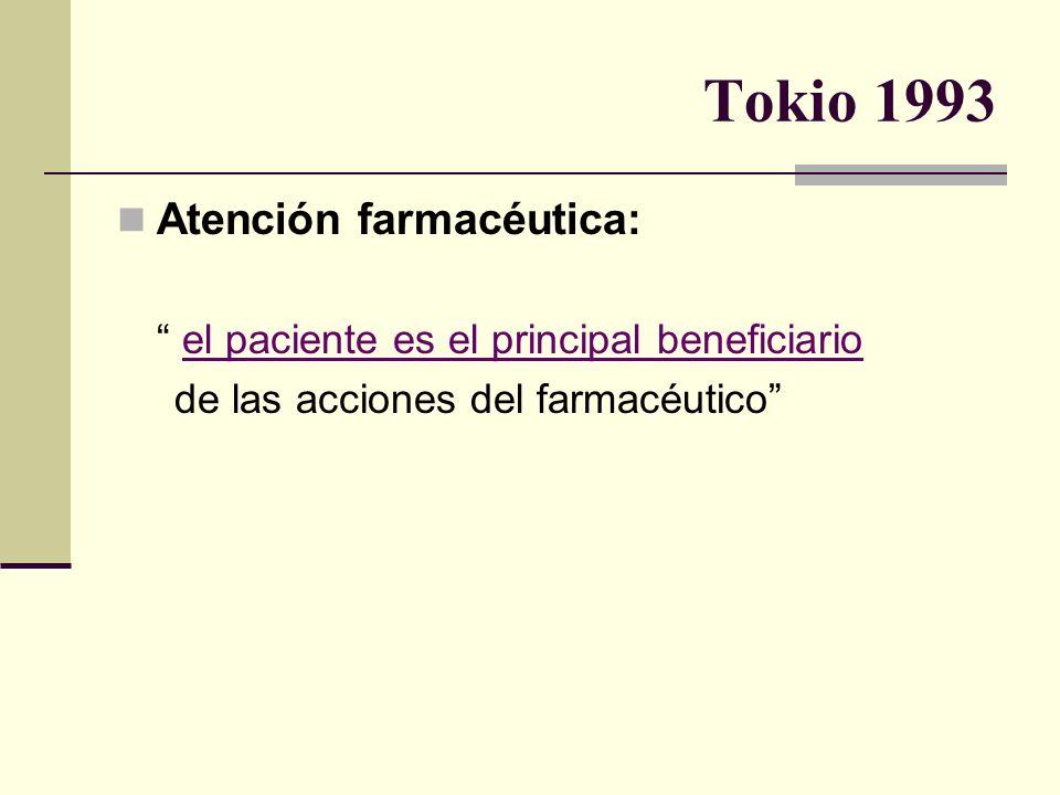 Tokio 1993 Atención farmacéutica: