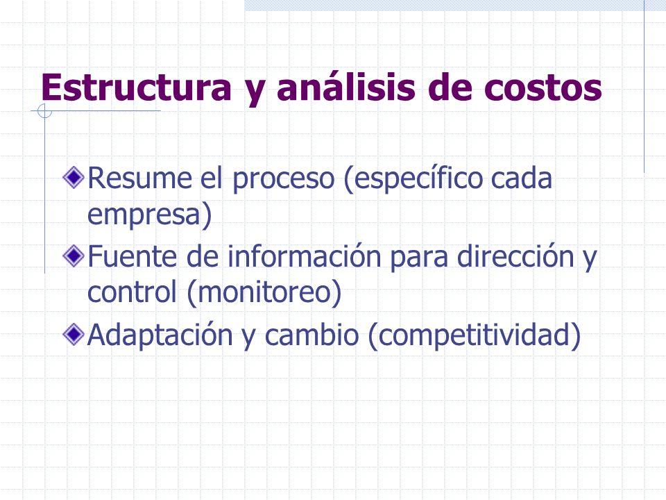Estructura y análisis de costos
