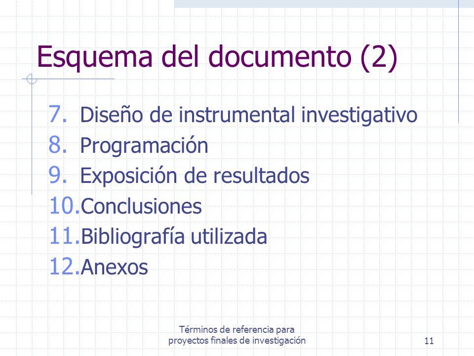 Esquema del documento (2)