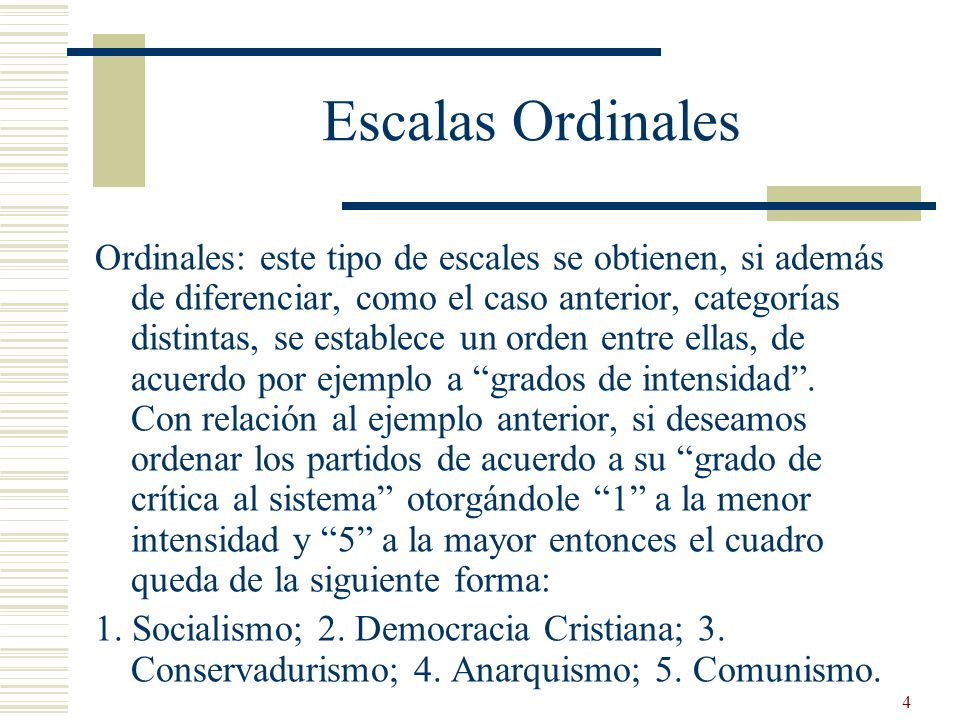 Escalas Ordinales