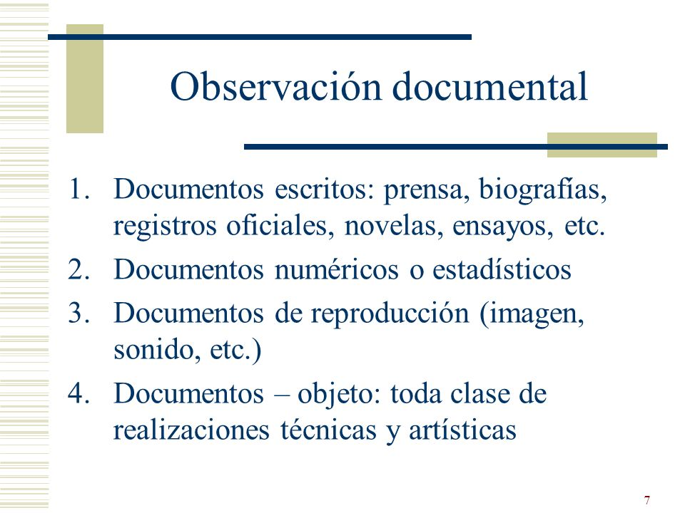 Observación documental