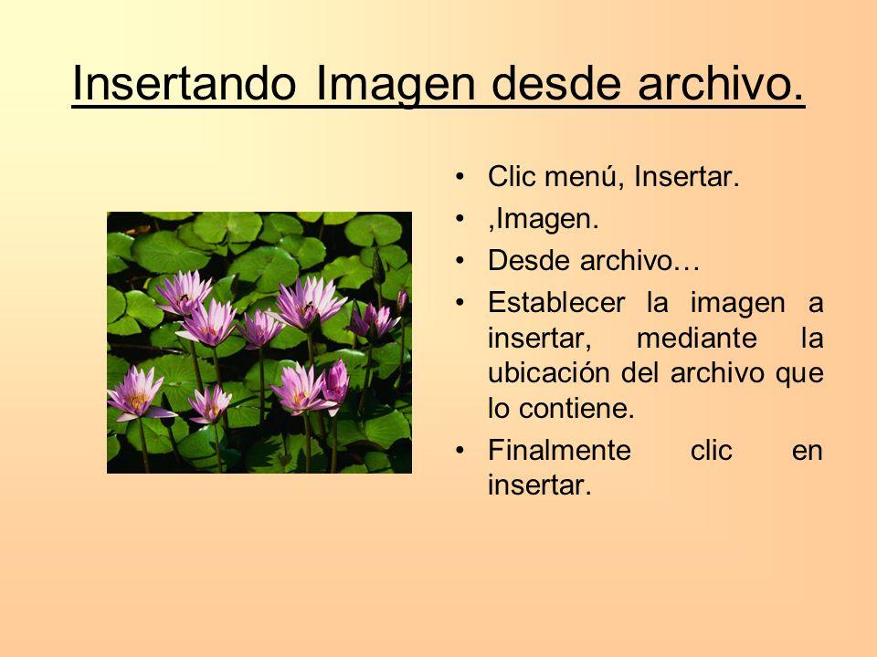 Insertando Imagen desde archivo.