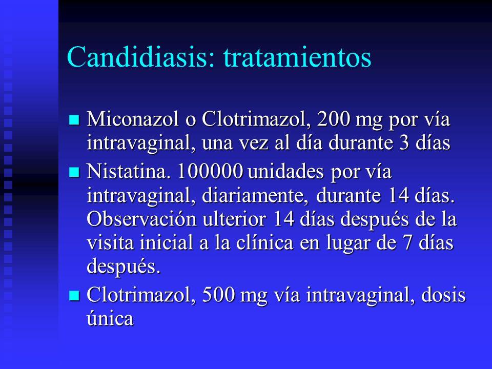 Candidiasis: tratamientos