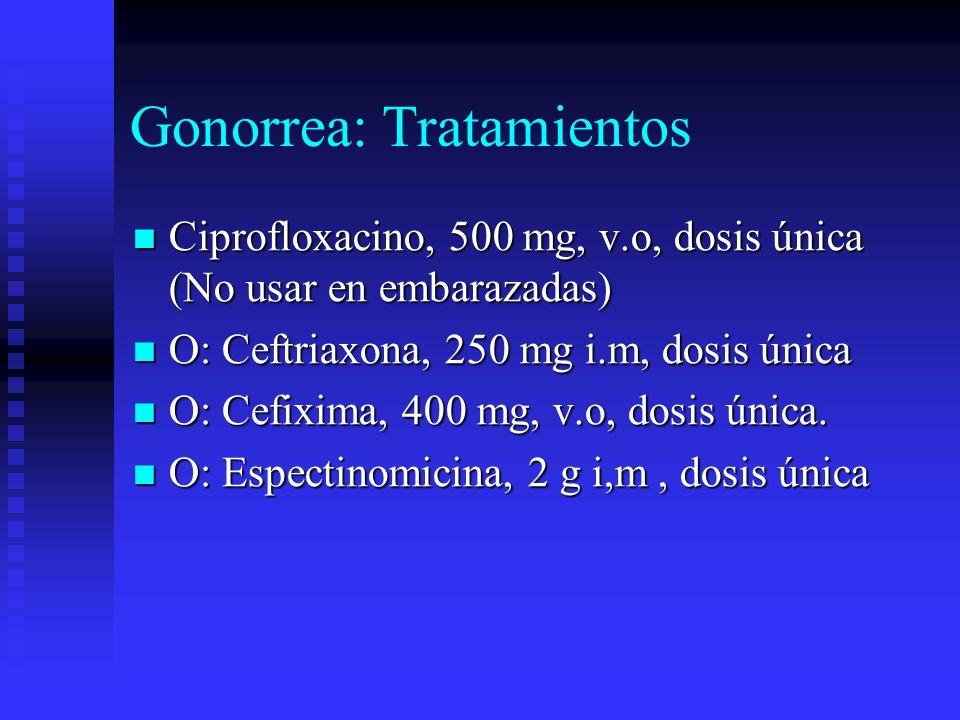 Gonorrea: Tratamientos