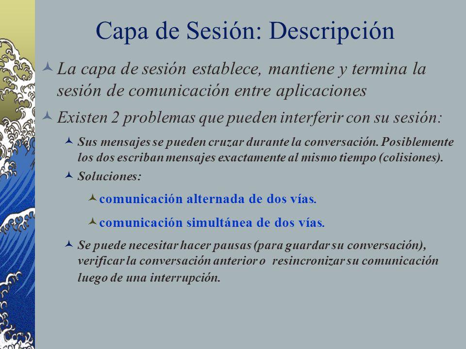Capa de Sesión: Descripción