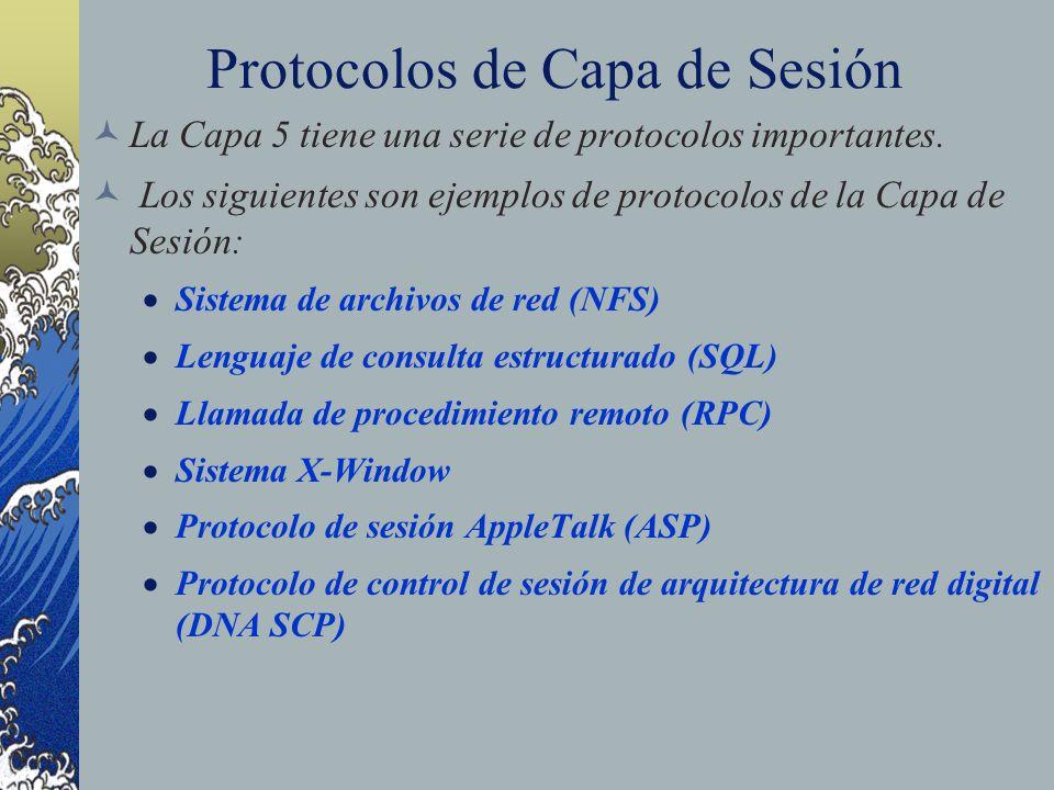 Protocolos de Capa de Sesión
