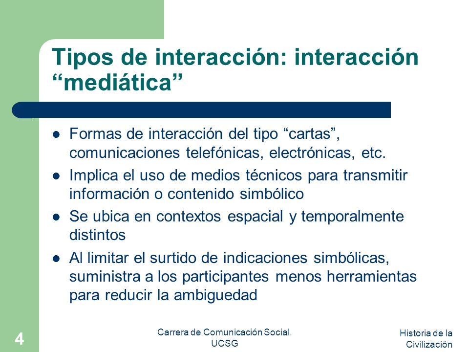 Tipos de interacción: interacción mediática