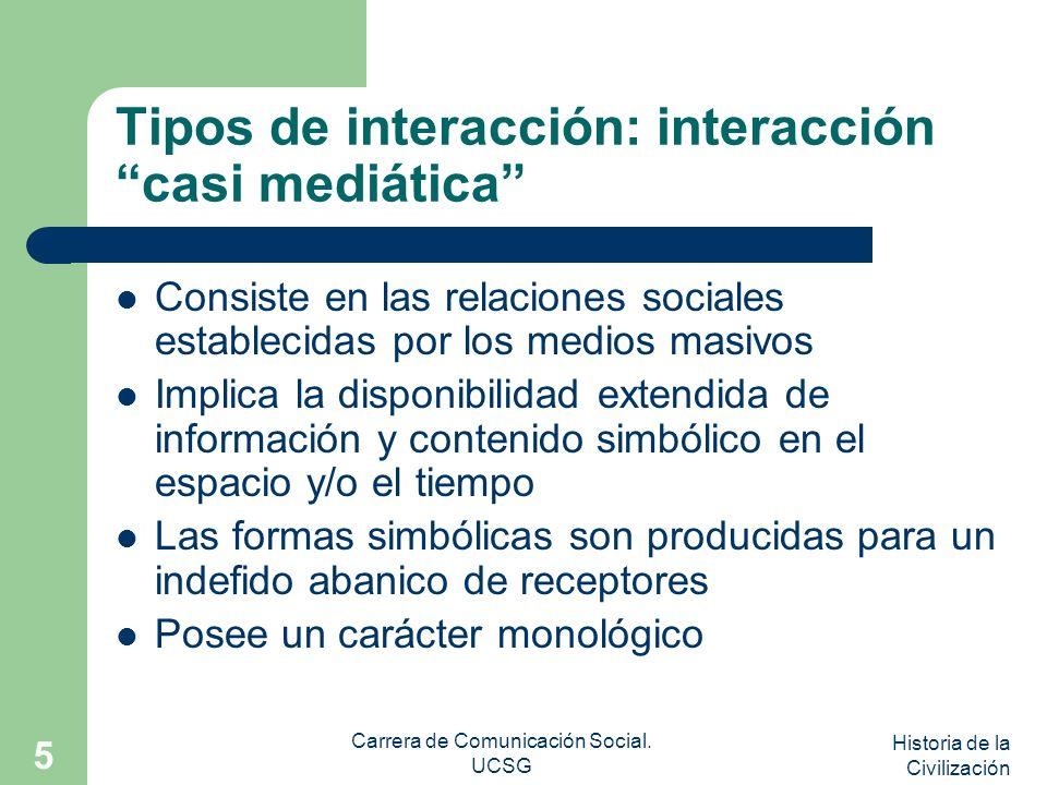 Tipos de interacción: interacción casi mediática