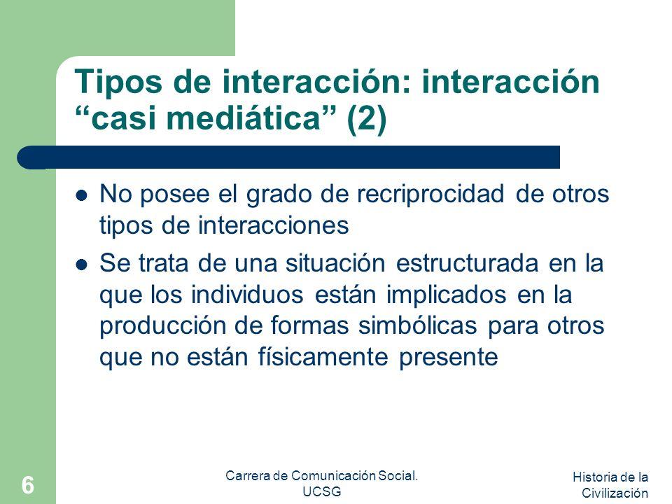 Tipos de interacción: interacción casi mediática (2)