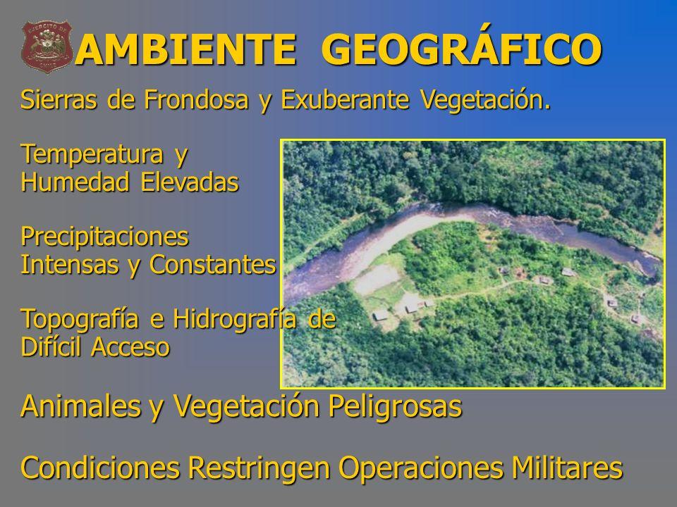 AMBIENTE GEOGRÁFICO Animales y Vegetación Peligrosas