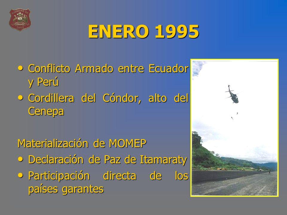 ENERO 1995 Conflicto Armado entre Ecuador y Perú