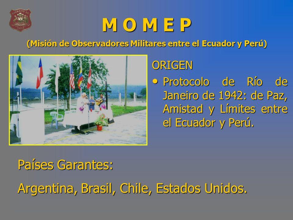 M O M E P Países Garantes: Argentina, Brasil, Chile, Estados Unidos.