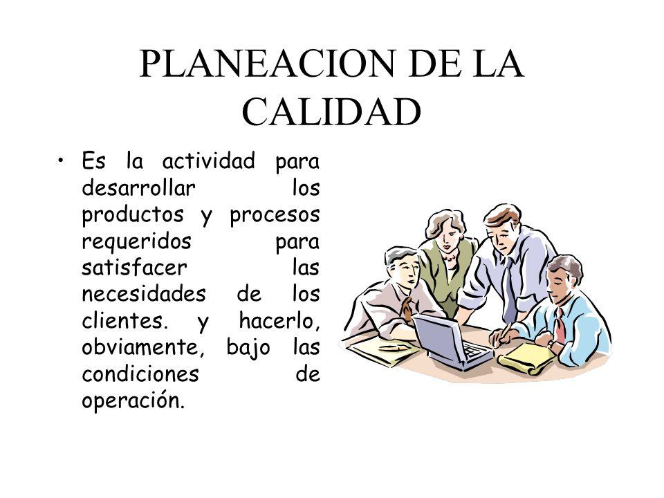 PLANEACION DE LA CALIDAD