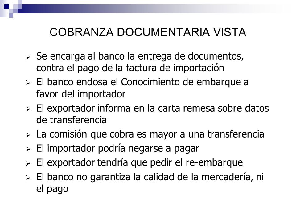 COBRANZA DOCUMENTARIA VISTA