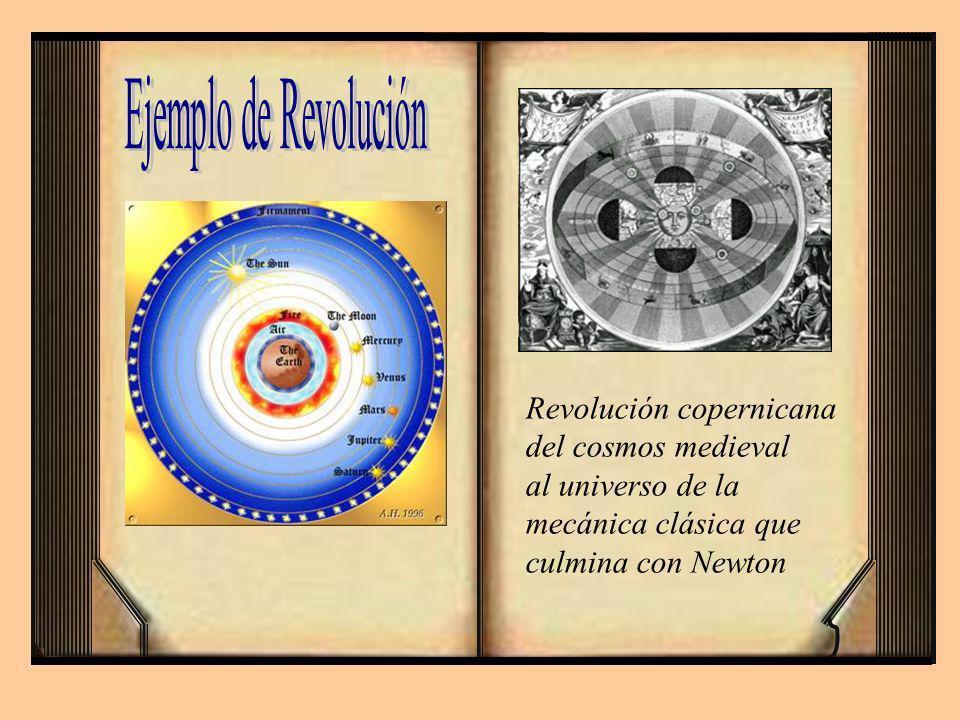 Ejemplo de Revolución Revolución copernicana del cosmos medieval
