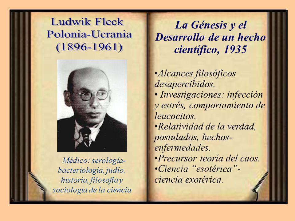 La Génesis y el Desarrollo de un hecho científico, 1935
