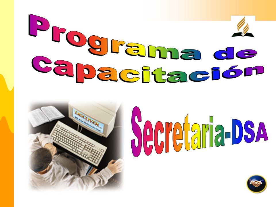 Programa de capacitación Secretaria-DSA