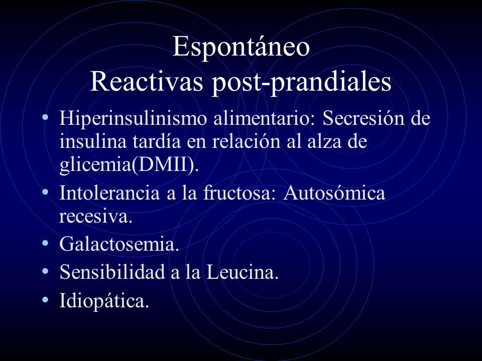 Espontáneo Reactivas post-prandiales