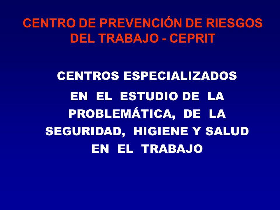 CENTRO DE PREVENCIÓN DE RIESGOS DEL TRABAJO - CEPRIT