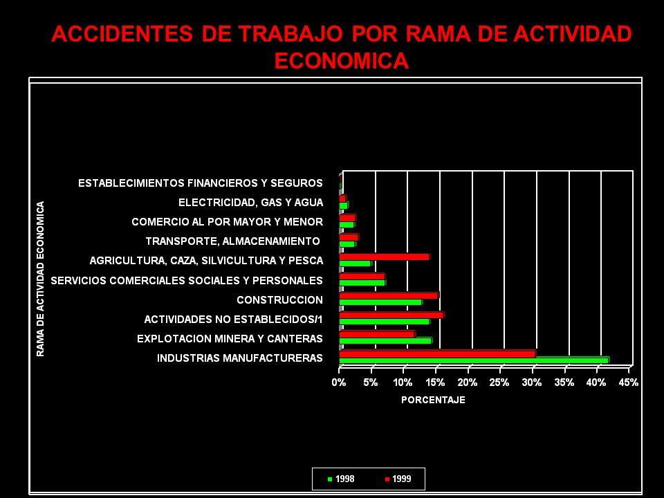 ACCIDENTES DE TRABAJO POR RAMA DE ACTIVIDAD ECONOMICA