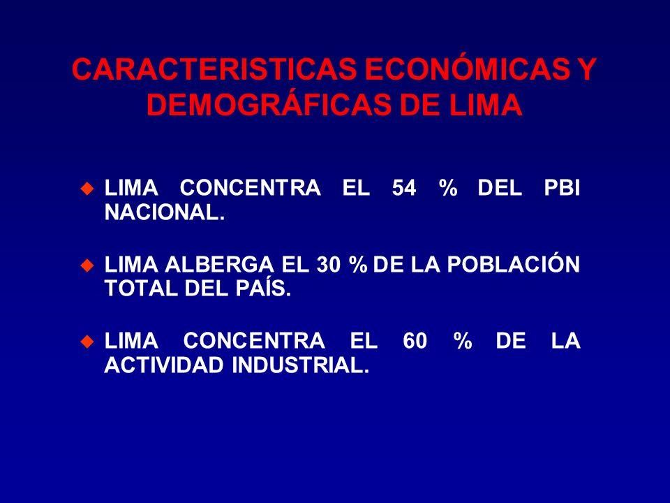 CARACTERISTICAS ECONÓMICAS Y DEMOGRÁFICAS DE LIMA