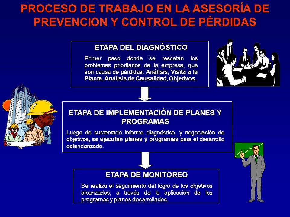 PROCESO DE TRABAJO EN LA ASESORÍA DE PREVENCION Y CONTROL DE PÉRDIDAS