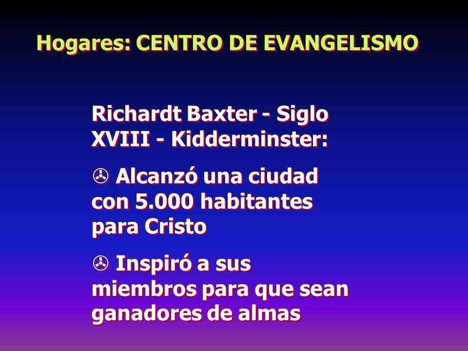 Hogares: CENTRO DE EVANGELISMO