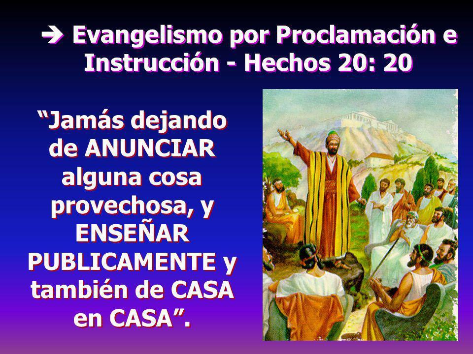  Evangelismo por Proclamación e Instrucción - Hechos 20: 20