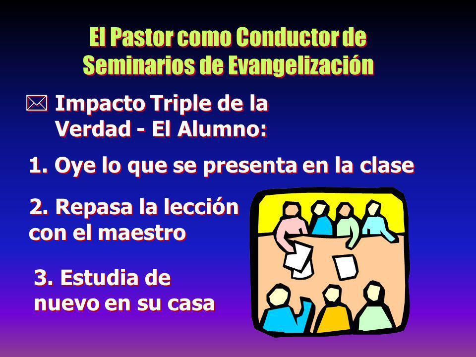 El Pastor como Conductor de Seminarios de Evangelización