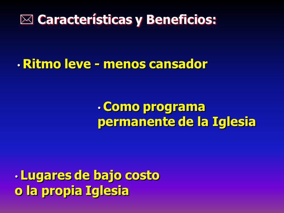  Características y Beneficios:
