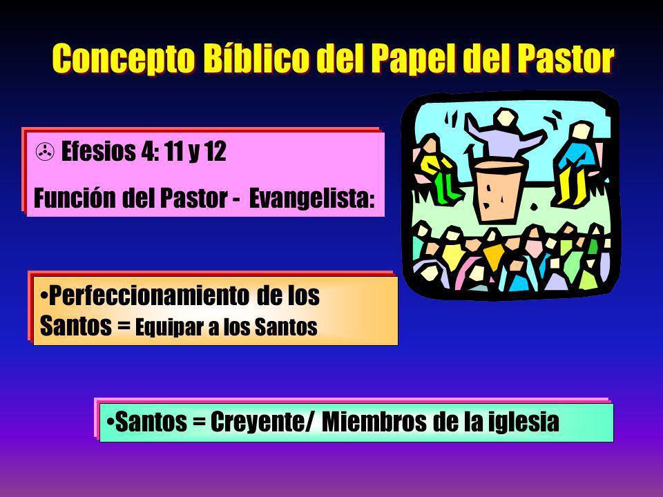 Concepto Bíblico del Papel del Pastor