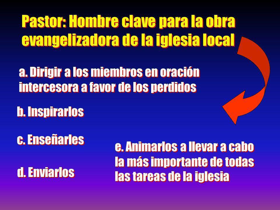 Pastor: Hombre clave para la obra evangelizadora de la iglesia local