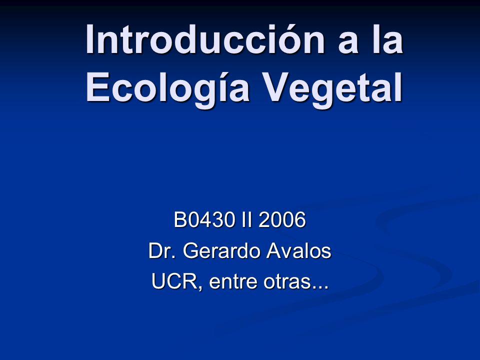 Introducción a la Ecología Vegetal