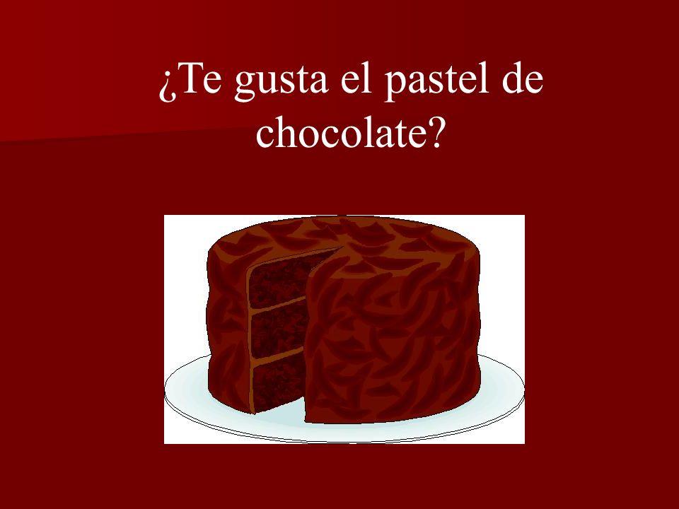 ¿Te gusta el pastel de chocolate