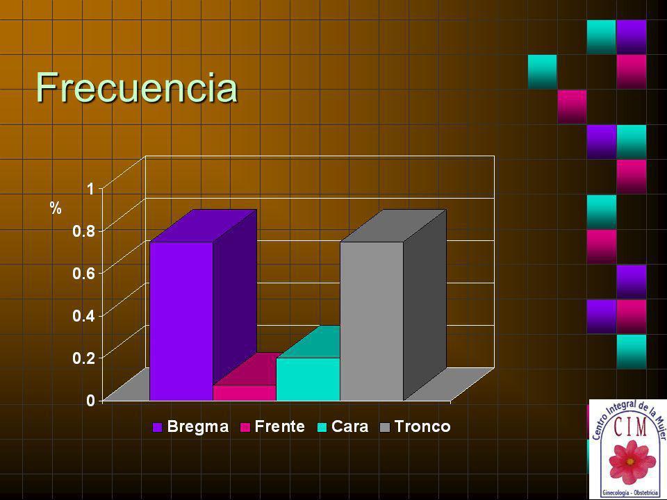 Frecuencia En cuanto a la frecuencia de cada una de las distocias presentadas, se observa la siguiente distribución: