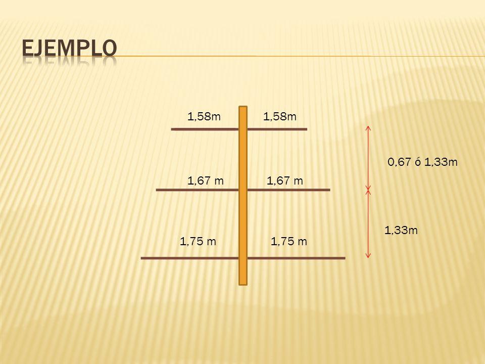 Ejemplo 1,58m 1,58m 0,67 ó 1,33m 1,67 m 1,67 m 1,33m 1,75 m 1,75 m