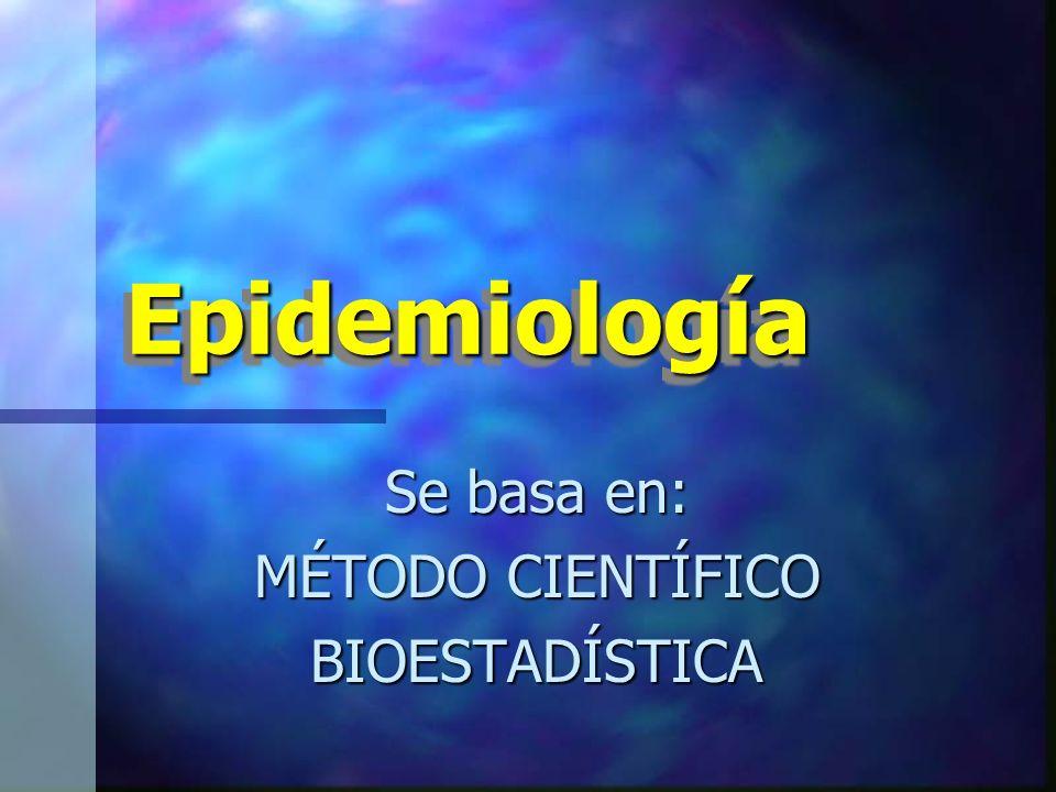 Se basa en: MÉTODO CIENTÍFICO BIOESTADÍSTICA
