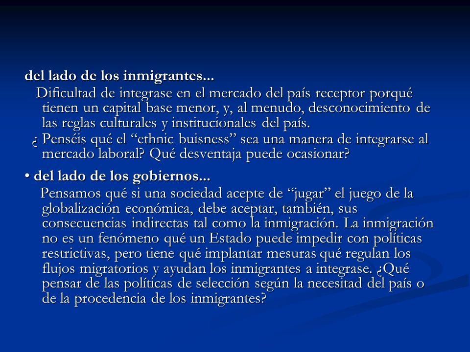 del lado de los inmigrantes...