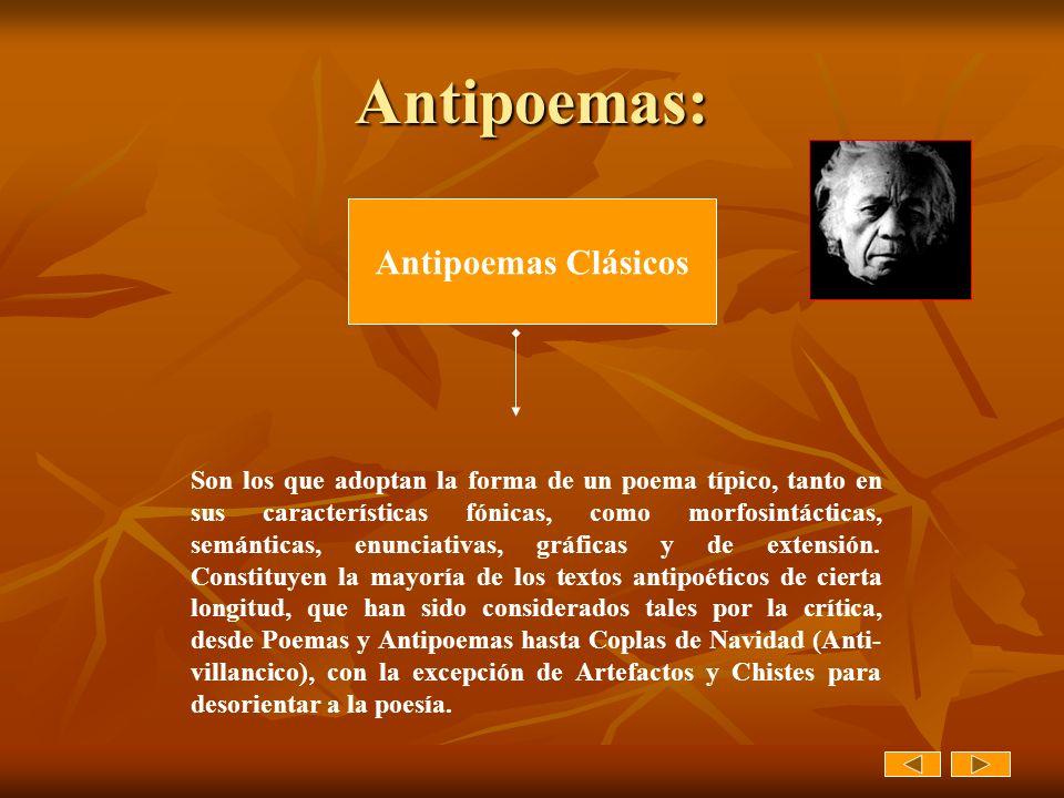Antipoemas: Antipoemas Clásicos