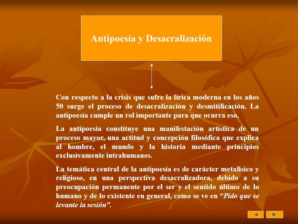 Antipoesía y Desacralización