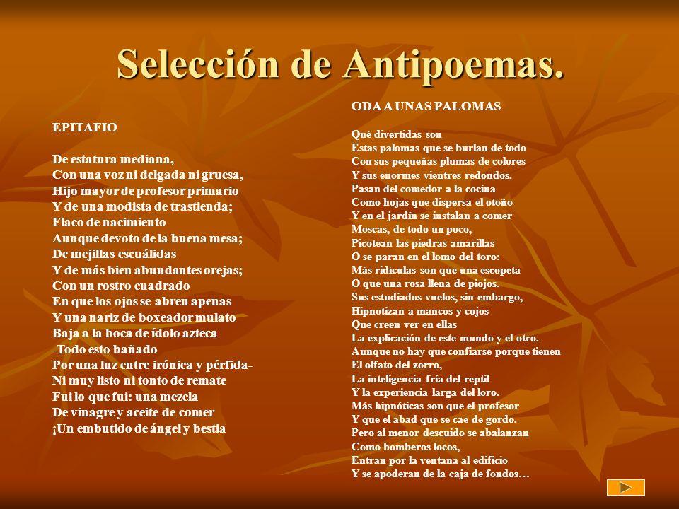 Selección de Antipoemas.