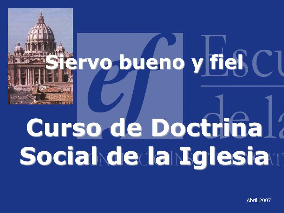 Curso de Doctrina Social de la Iglesia