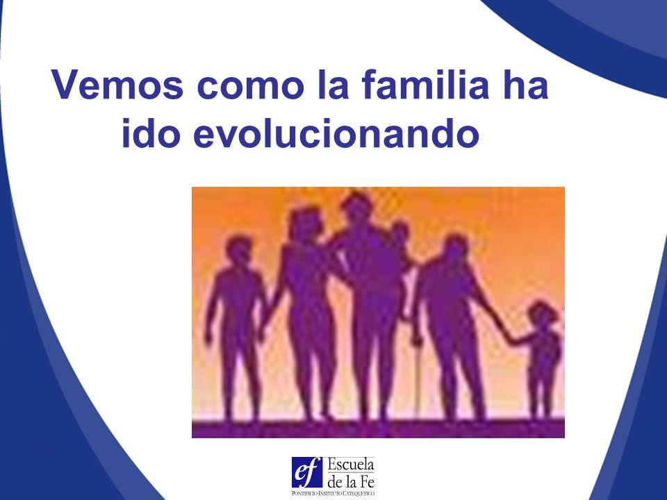 Vemos como la familia ha ido evolucionando