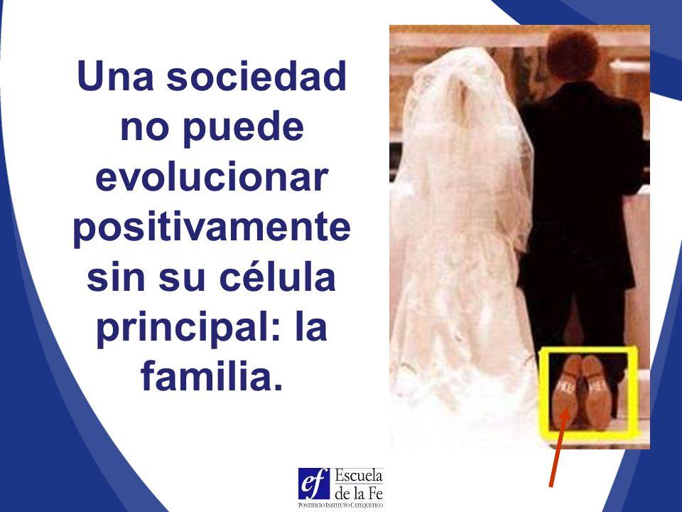Una sociedad no puede evolucionar positivamente sin su célula principal: la familia.