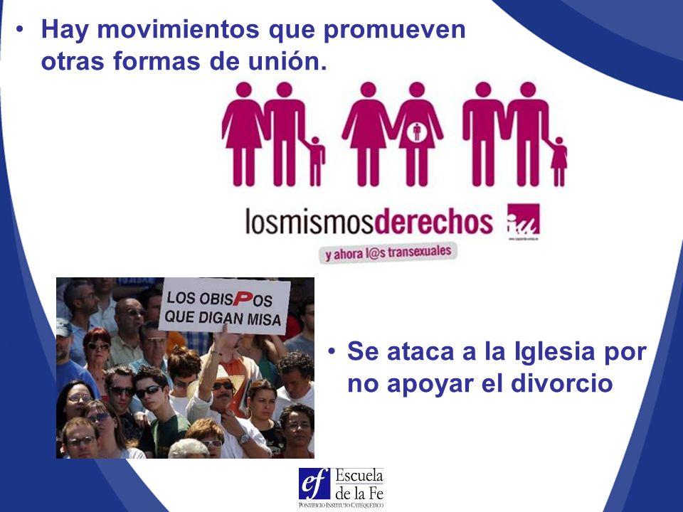 Hay movimientos que promueven otras formas de unión.