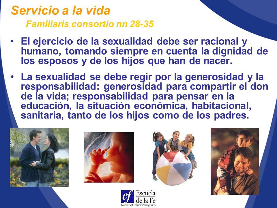 Servicio a la vida Familiaris consortio nn 28-35.