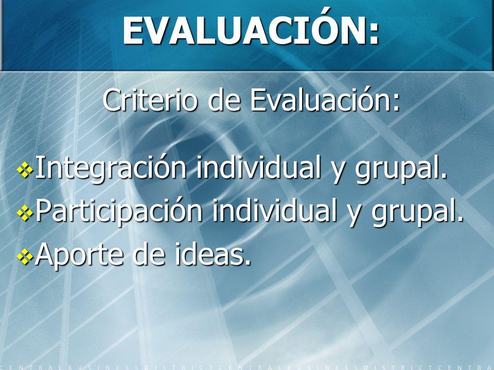 Criterio de Evaluación:
