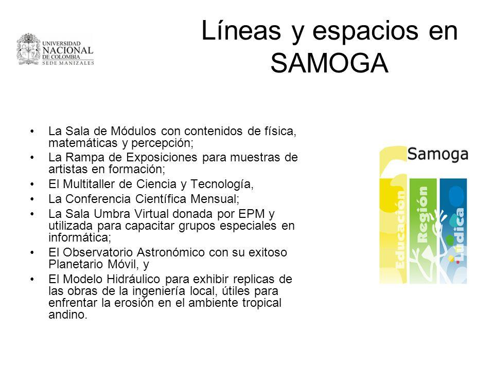 Líneas y espacios en SAMOGA